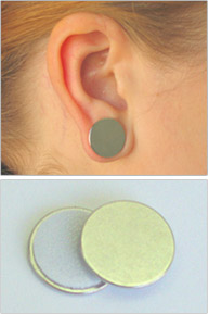 Magnetic Pressure Earrings With Silicone Lined Fabric
